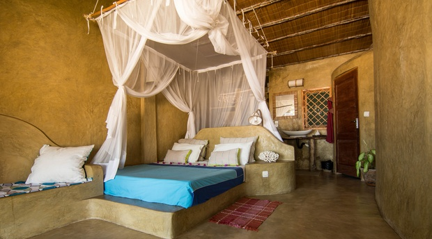 Luxury Queen Room with Sea View, Casa na Praia Tofo Beach Mozambique